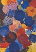 Ekstatisches Blau by Ernst-Wilhelm Nay