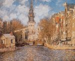Groenburgwal and the South Church by Claude Monet
