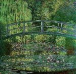 Waterlilies and Bridge by Claude Monet
