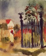 Gartentor (1914) by August Macke