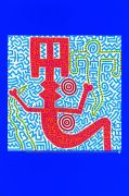 Untitled Blue (1984) by Keith Haring