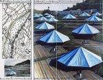Umbrellas Blue II by Javacheff Christo