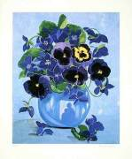Blaues Blumenstilleben (2000) by Brigitte P. Hoff