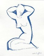 Nude Seated on Both Legs by Amedeo Modigliani