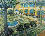 The Garden of the Hospital in Arles by Vincent Van Gogh