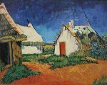 White Farmhouse at Saintes-Maries by Vincent Van Gogh