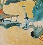 Blumensteg, Giesskanne u. Eimer, 1910,47 by Paul Klee