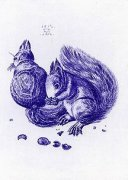 Blue Squirrels by Albrecht Dürer