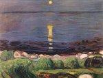 Sommernacht am Strand by Edvard Munch