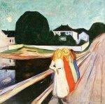 Four Girls on a Bridge by Edvard Munch