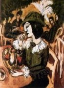 Grüne Dame im Gartencafe by Ernst Ludwig Kirchner