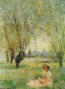 Woman under the Trees, 1880 by Claude Monet