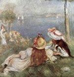Girls by the Sea, 1894 by Pierre Auguste Renoir