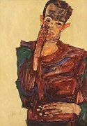 Selbstbildnis S4 by Egon Schiele