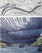Over The River IX, Project for Arkansas River by Javacheff Christo