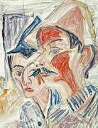 Two Peasants by Ernst Ludwig Kirchner
