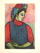 Girl wearing an Apron by Alexei Von Jawlensky