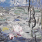 Water Lilies & Willow Branches I by Claude Monet