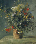 Flowers in a Vase, c. 1866 by Pierre Auguste Renoir