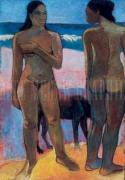 Two Nudes on a Tahitian Beach by Paul Gauguin