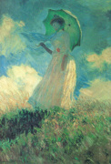Woman with Parasol by Claude Monet