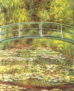 The Water Lily Pond & Bridge by Claude Monet