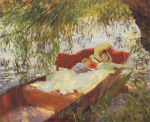 Two Women Asleep in a Punt by John Singer Sargent