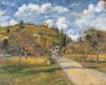 The Highway (La cote de Valhermeil), 1880 by Camille Pissarro