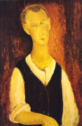 Young Man with a Black Waistcoat, 1912 by Amedeo Modigliani