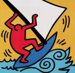 Untitled, 1987 (blue boat) by Keith Haring