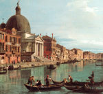 Venice: The Upper Reaches of the Grand Canal with S. Simeone Piccolo c. 1738 (detail)