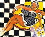 Danseuse dans le Fauteuil sol en Damier 1942