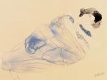 Femme vetue allongee sur flanc (small)