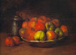 Still Life with Apples and a Pomegranate by Gustave Courbet