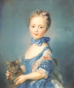 A Girl with a Kitten