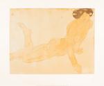 Femme nue allongee sur le ventre