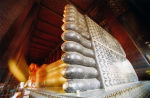 Reclining buddha golden foot by Heinz Krimmer