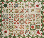 Pieced And Appliqued Cotton Quilted Coverlet, Ramapo, New Jersey by Christie's Images