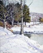 The Old Stone Wall by George Gardner Symons