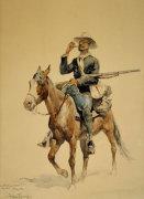 A Mounted Infantryman by Frederic Remington