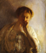 La Penserosa. The Thoughtful One by Joseph Rodefer de Camp