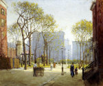 Late Afternoon, Washington Square by Paul Cornoyer