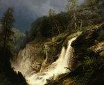 Western Waterfall by Hermann Herzog
