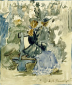 Ladies Seated On A Bench by Maurice Prendergast