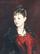 Portrait Of Madamoiselle Suzanne Poirson by John Singer Sargent