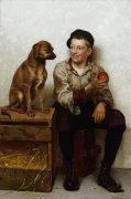Teasing The Pup by John George Brown