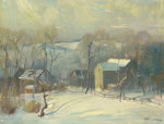 Village In Snow by Arthur Clifton Goodwin