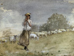 Tending Sheep, Houghton Farm by Winslow Homer