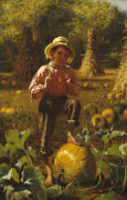 That's Me Pumpkin, 1879 by John George Brown