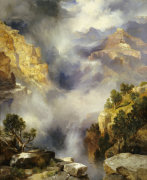 Mist In The Canyon, 1914. by Thomas Moran